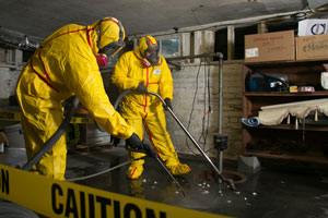 sewage cleanup in Los Angeles, California